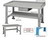 INDUSTRIAL WORK BENCHES - ADJUSTABLE LEGS