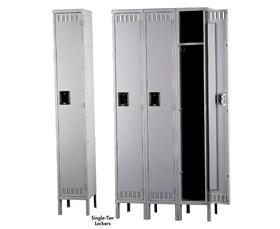TENNSCO DURABLE STEEL LOCKERS - SINGLE TIER