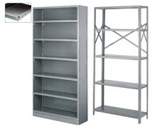 Industrial shelving.